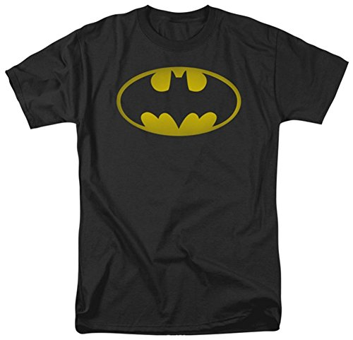BATMAN-VINTAGE-LOGO-T-SHIRT-Officially-Licensed-Mens-Tee-M