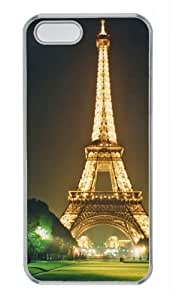 Eiffel Tower Background Protector PC Hard Material Transparent Cover Case For iPhone 5 5S