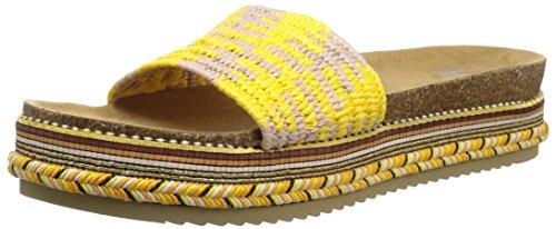 LFL by Lust for Life Women's LL-Pike Wedge Sandal, Yellow Raffia, 7 Medium US -