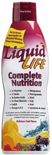 All One Nutritional Laboratories Liquid Life Complete Nutrition, Fruit 32 oz