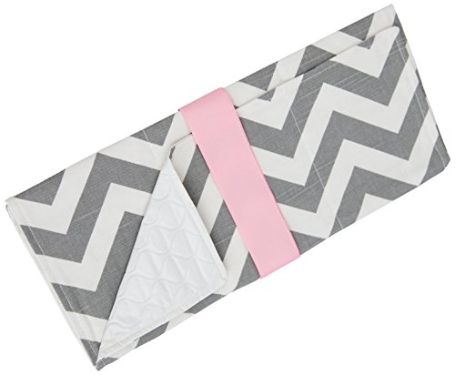 Caught Ya Lookin' Baby Changing Pad, Gray/White/Pink from Caught Ya Lookin'