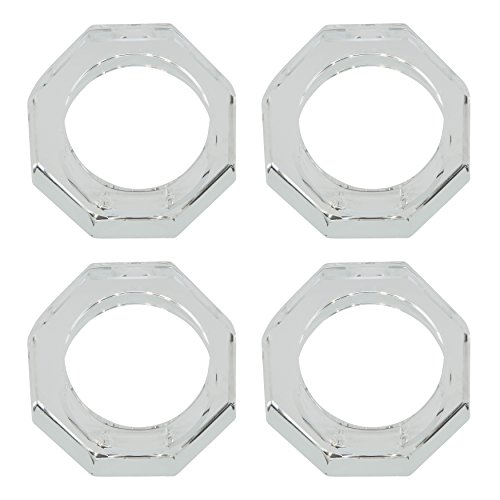 SARO LIFESTYLE Cielo Collection Octagonal Shape Glass Crystal Napkin Ring, - Shape Octagonal