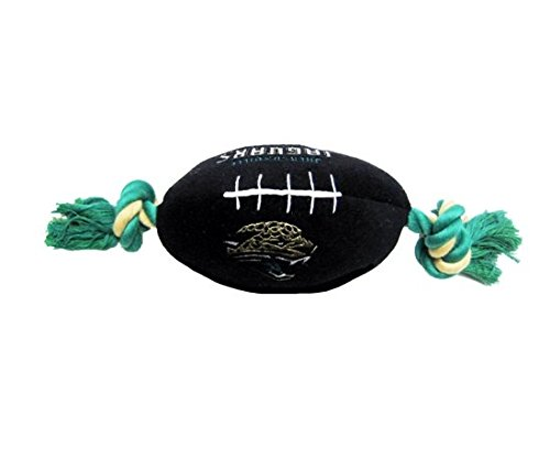 (NFL Jacksonville Jaguars Pet Football Rope Toy, 6-Inch Long Plush Dog Toy with Inner Squeaker)
