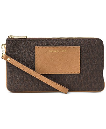 - MICHAEL Michael Kors Signature Large Double Zip Wristlet with Pocket