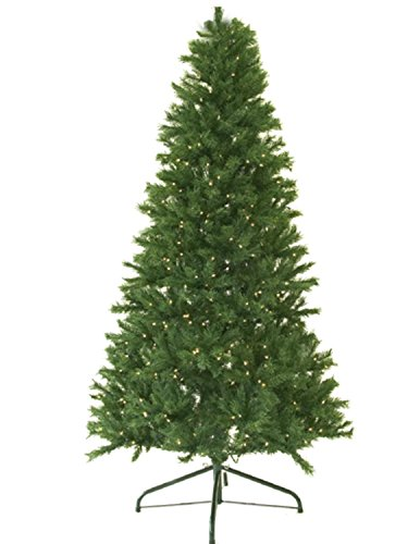 (Darice 7' Pre-Lit Canadian Pine Artificial Christmas Tree - Clear Lights)