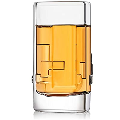 JoyJolt Revere 4-Pack Heavy Base Shot Glass Set, 2-Ounce Ultra Clear Shot Glasses