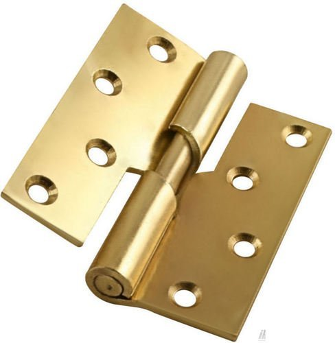 100mm Right Hand Rising Butt Hinges Pair - Electro Brass Perry Hinges