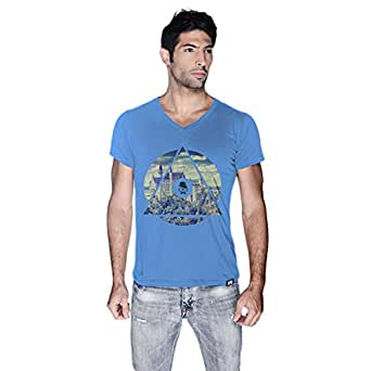 Creo Germany T-Shirt For Men - L, Blue