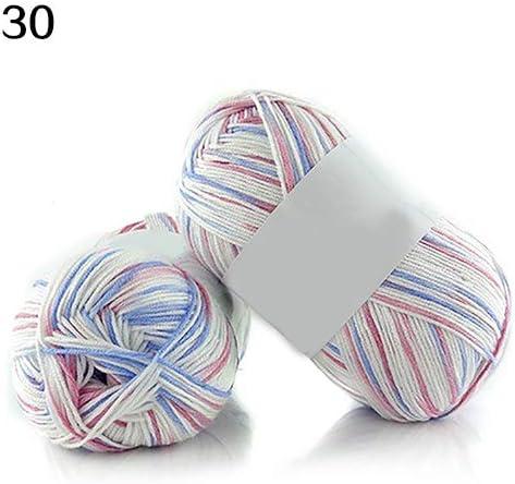 Qingsb - Madeja súper suave de bambú y algodón transpirable, para hacer punto y ganchillo, ideal para bebé 30: Amazon.es: Hogar