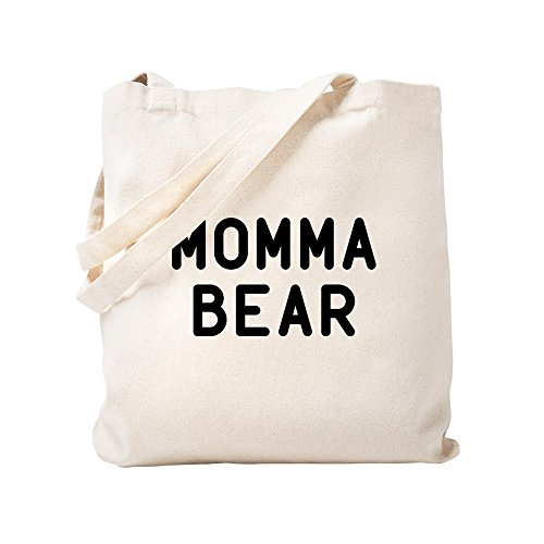 Negro Bear Lona De Caqui Color Small Momma Bolsa Mano Cafepress nvwYOHOq