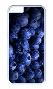 MOKSHOP Adorable blueberry Hard Case Protective Shell Cell Phone Cover For Apple Iphone 6 (4.7 Inch) - PC White