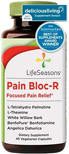 Pain Bloc-R - Natural Pain Relief Supplement - for Constant or Chronic Pain - Muscle Relaxer - Helps with Back Pain and Muscle Spasms - with L-Theanine, L-Tetrahydro Palmatine (45 Capsules)
