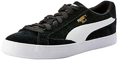 PUMA Men's Match Vulc 2 Sneaker, Black (Puma Black-Puma White), 6 US