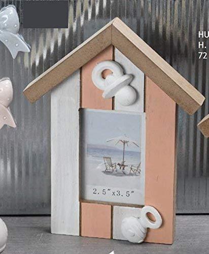Publilancio SRL GRAN OFERTA 22 PIEZAS Marco De Fotos de madera rosa shabby chic Casa Caseta