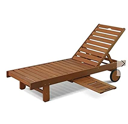 Amazon.com: Cosmos eStore Wooden Patio Chaise Lounge with ...