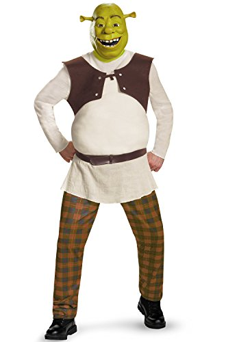 [Disguise Men's Shrek Deluxe Adult Costume, Green, X-Large] (Shrek Costumes)