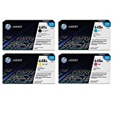 HP 649X 648A CE260X CE261A CE262A CE263A SET (4-Pack Black Cyan Magenta Yellow) Toner Cartridge for HP Color laserJet CP4525 CP4525dn CP4525n CP4525xh