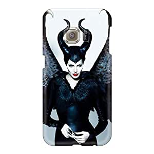 Shock Absorbent Hard Cell-phone Case For Samsung Galaxy S6 (hIa21112bZsY) Provide Private Custom HD Angelina Jolie Maleficent Skin