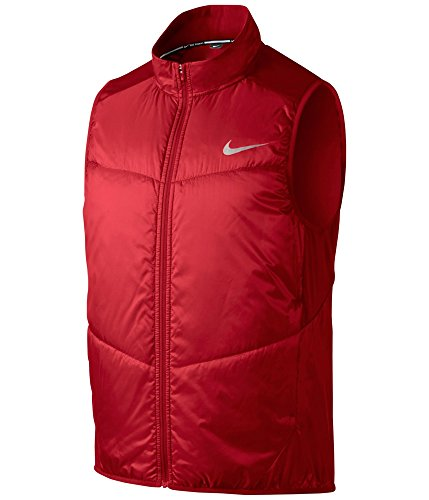 Nike Mens Polyfill Running Quilted Jacket, Red, Small
