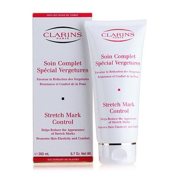 Clarins Strech Mark Control Cream 200 ml. [Get Free Nature body scrubber] by Leostorebeauty