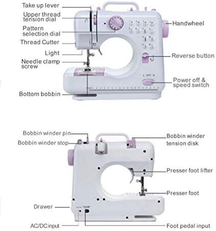 XGHW Máquina de Coser, hogar, multifunción, alimentación eléctrica ...