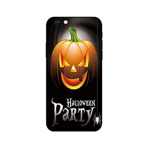 Phone Case Compatible with iphone6 iphone6s mobile phone covers phone shell Brandnew Tempered Glass Backplane,Halloween,Halloween Party Theme Scary Pumpkin on Abstract Modern Backdrop Spider Decorativ]()