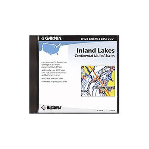 Garmin MapSource Inland Lakes Continental United States Freshwater Map DVD (Windows) -