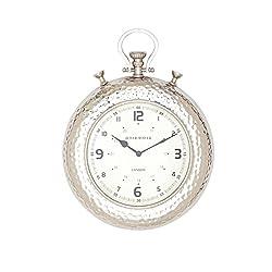 Benzara Fantastic Styled Aluminum Wall Clock