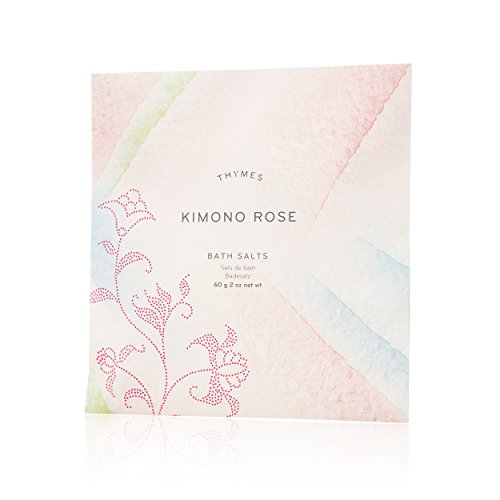 Thymes - Kimono Rose Bath Salts - Soothing Combination of Epsom and Sea Salt for Relaxing Bath Soak - 2 oz