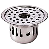 SBD Stainless Steel Anti-Cockroach With Hole Jali/Trap Floor Drain (Chrome Finished)