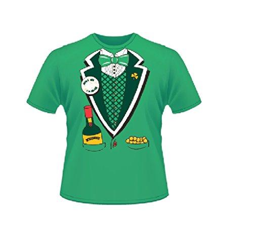 Grünes St. Patricks Tag Kurzärmeliges 100% Baumwolle Kobolt Anzug-T-Shirt-Extra Extra Large
