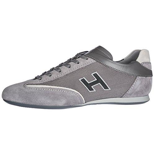 Sneakers Scarpe camoscio Uomo Nuove Hogan Grigio Olympia 65BdqwvnU