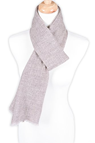 Zentopia classic 100% Grade A cashmere handmade scarf narrow cut light weight (Khaki) by Zentopia