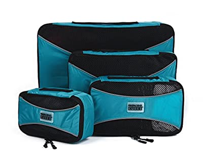 Pro Packing Cubes - 4 Piece Lightweight Travel Packing Cubes Set - Organizers and Compression Pouches System for Carry-on Luggage Accesories, Suitcase and Backpacking