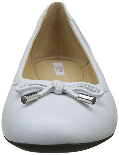Geox Lamulay Weiß Ballerinas D D Damen White Geschlossene ggwFp