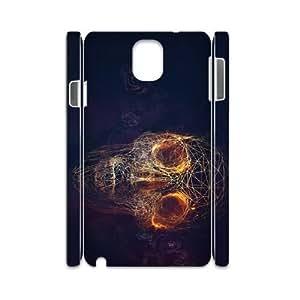 Samsung galaxy note 3 N9000 Fire skulls 3D Art Print Design Phone Back Case Customized Hard Shell Protection HG054866