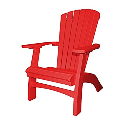 Remarkable Poly Casual Seaside Upright Adirondack Chair Red Ncnpc Chair Design For Home Ncnpcorg