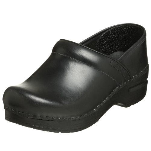 Dansko Women's Narrow Pro Clog,Black,39 N EU / 8.5-9 2A(N) US