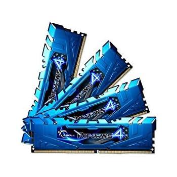 32GB G.Skill Ripjaws 4 DDR4 2400MHz PC4-19200 CL15 Quad Channel kit (4x4GB) Blue