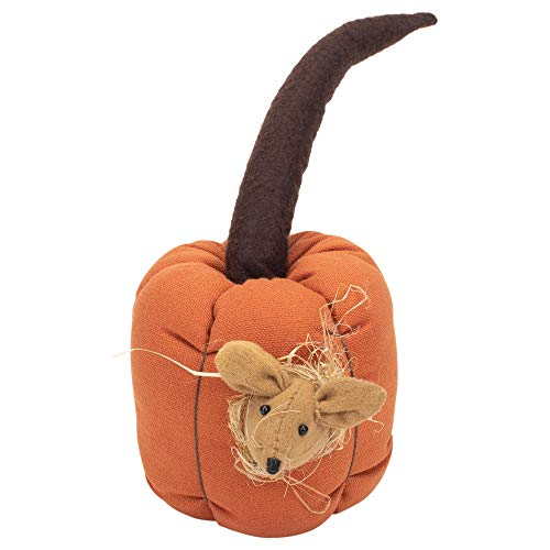 Honey and Me Small Pumpkin Nested Mouse Fall Medley 10 x 6 Cotton Blend Harvest Pillow ()