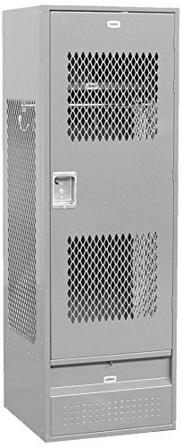 Salsbury Industries 72024GY-U Unassembled 6-Feet High 24-Inch Deep Standard Gear Metal Locker Ventilated Door, (Ventilated Metal)