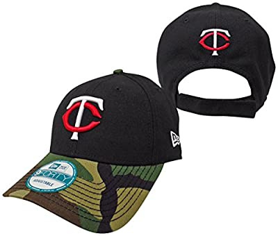 Minnesota Twins The League Camo 9FORTY Adjustable Hat / Cap from New Era