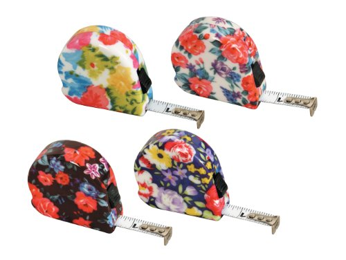 MIT Image Works 69151 Retractable Utility Knife - Floral Tape Measure