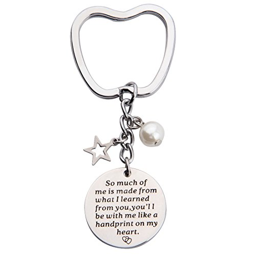 KUIYAI Teacher Keychain Graduation Students Gift So Much of Me is Made from You Quote Pendant Keychain (Teacher Appreciation Keychain)
