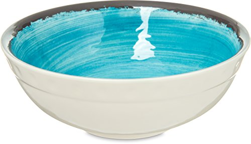 Carlisle 5400515 Mingle Melamine Small Soup / Salad Bowl, 17 Oz, Aqua (Set of 12) ()