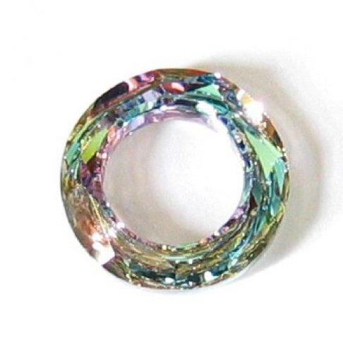 1 pc Swarovski Crystal 4139 Round Cosmic Ring Frame Charm Pendant Vitrail Light 20mm / Findings / Crystallized (4139 Cosmic Ring Pendant)