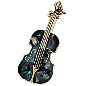 Gquan Broche Broche Broche Broche Violín (Color : Negro): Amazon ...