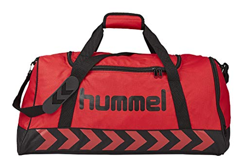 Hummel Authentic–Bolsa de Deporte, Sporttasche Tasche True–Rojo y Negro, Negro, S