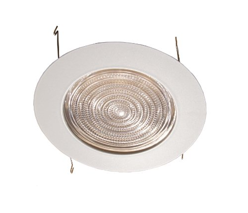 6 Inches Fresnel Lens Shower Trim for Recessed Light/Lighting-Fits Halo/Juno White Glass Recessed Housing Trim