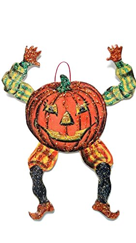 Halloween Ornament Decoration Spooky Pumpkin Man ()
